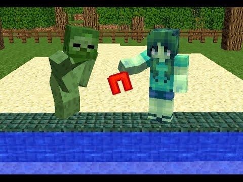 Monster School Girls vs Boys Swimming Challenge Minecraft Animation