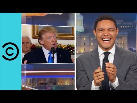 President Donald Trump Can't Keep Hish Dentures In Hish Mouth The Daily Show