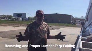 Proper Lumber (8' Drop) Tarp Folding
