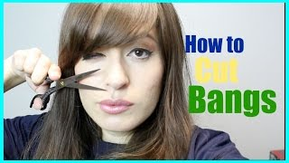 How to cut side swept bangs at home