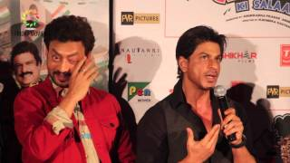 Shahrukh Khan & Irfan Khan Talk About Whom To Give Ekkees Toppon Ki Salaami