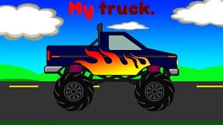 Kids Truck Video | Monster Truck Adventure | Learn To Read Story for Kids | BeeCeeDee