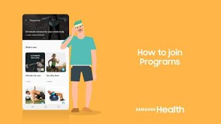 Samsung Health: How to join Programs