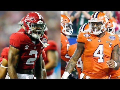 Athletes Make Predictions for Alabama vs Clemson National Championship Game