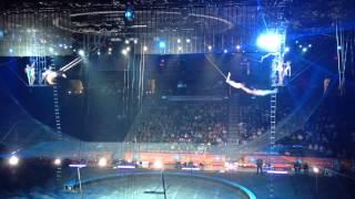 Trapeze flying Tuniziani. circus act,