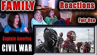 Captain America | CIVIL WAR | FAMILY Reactions | Fair Use