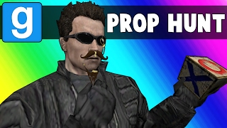 Gmod Prop Hunt Funny Moments - Terroriser Spots in a Broken Map (Garry