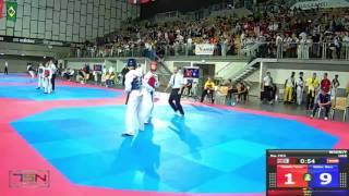 703-Müller, Marcel  LANDESKADER NIEDERÖSTERREICH (AUT) vs Deakin, Sonny  LION TAEKWONDO (GBR) 9-6