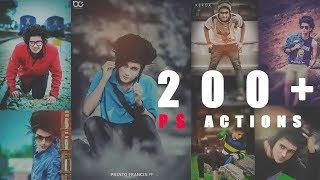 200 + Photoshop  Action  Free Download | Tapash editz