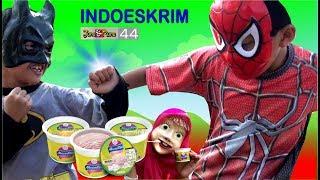 Indoeskrim Nusantara ❤ Kisah Batman & Spiderman, Masha & Joker