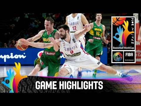 watch Serbia v Brazil - Game Highlights - Quarter Final - 2014 FIBA Basketball World Cup