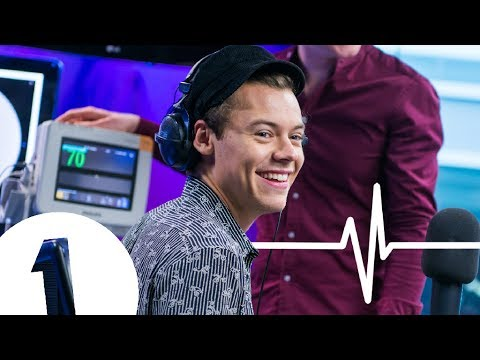Harry Styles HEART MONITOR CHALLENGE with Nick Grimshaw