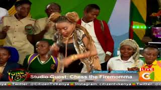 Dancehall Queen Chess rocking on stage #OneLove