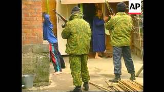 Chechnya - OMON Troops Search Homes In Grozny