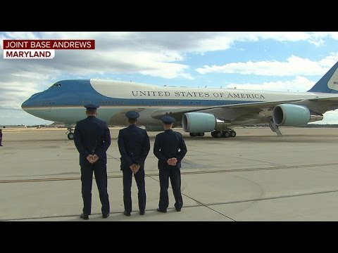 Watch Trump takes off on Air Force One for first time as president