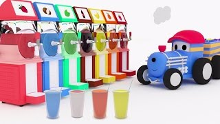 Colorful Slushies - Learn colors with Ted The Train | Educational cartoon for kids