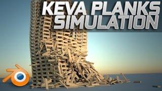 Massive Keva Planks Simulation - Blender [HD - 60FPS]