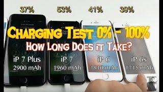 iPhone 7 Plus vs iPhone 7 vs iPhone 6s vs iPhone 6: Charging Test 0-100%