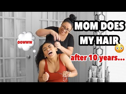 MY MOM DOES MY HAIR FOR THE FIRST TIME IN 10 YEARS! | jasmeannnn