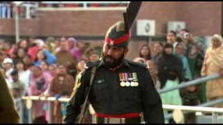 India Pakistan Wagah Attari Border Closing Ceremony (By Sanjeev Bhaskar - The Longest Road).