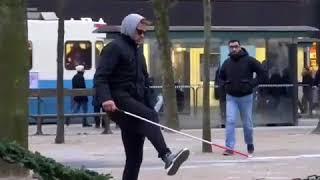 Blind guy walking meme