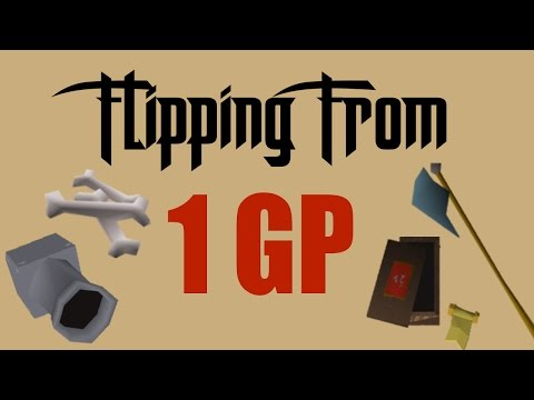 [OSRS] Flipping From 1GP to 1Mil - #2 - Oldschool Runescape Flipping Challenge