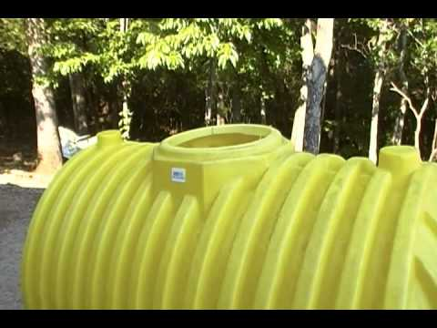 A 500 gallon septic tank for a cache or small underground shelter.