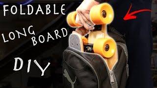 DIY $20 Foldable Longboard! Super Portable Longboard Hack!!!