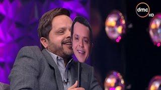 عيش الليلة - رد فعل محمد هنيدي بعد رؤية صورته في لعبة الأفلام مع أشرف عبد الباقي