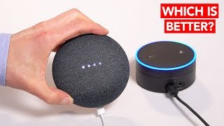 Google Home Mini VS Amazon Echo Dot - Which is better? (Unboxing & Review)