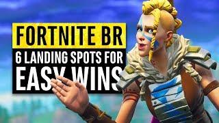 Fortnite | 6 Secret Landing Locations for Safe Easy Wins (Season 5)