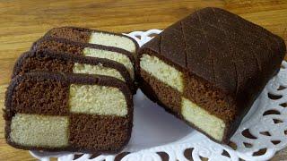 Chocolate Almond Battenberg Cake/চুলায় তৈরি চকলেট আমন্ড বেটেনবার্গ কেক রেসিপি/Chocolate Peanut Cake