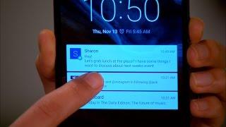 Android Lollipop lock-screen notification tips