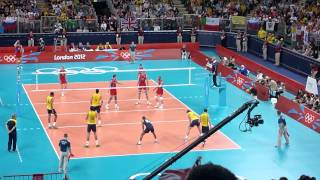 Greatest Volleyball points ever - Russia vs Brazil in London 2012 Olympic Men's Final