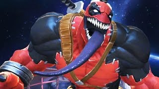 Marvel: Contest of Champions - Venompool Super Moves Attacks! (Venom/Deadpool)