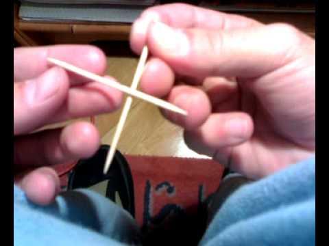 truco 1 de magia revelado con palillos. polu