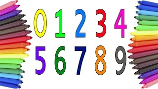 Coloring And Drawing Numbers Learn Numbers Together Rainbow Colors