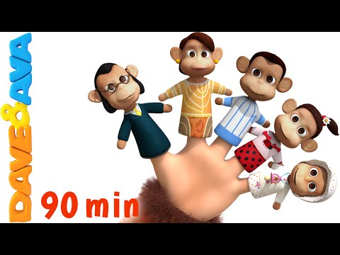 Finger Family Song | Nursery Rhymes and Kids Songs | YouTube Nursery Rhymes from Dave and Ava