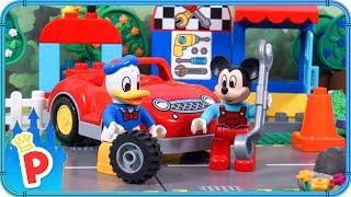 ♥ LEGO Mickey Mouse & Donald Duck REPAIR MY CAR | Stop-Motion Animation Cartoon for Kids