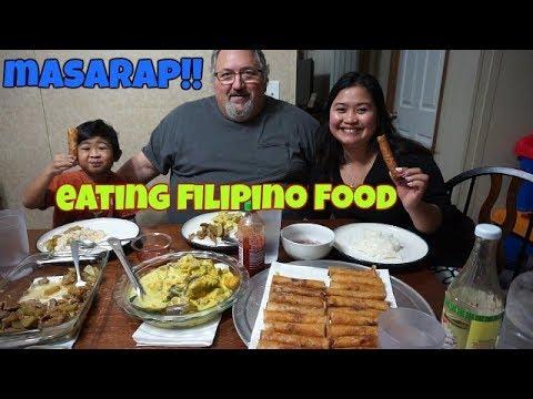 FILIPINA AMERICAN LIFE IN AMERICA EATING FILIPINO FOOD AND GOOD NEWS