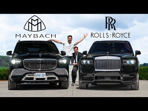 2021 Mercedes Maybach GLS600 vs Rolls Royce Cullinan Battle Of The ULTIMATE Ballers