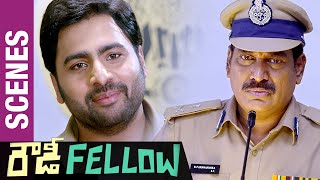Nara Rohit Makes Fun of Ahuti Prasad's Butler English | Rowdy Fellow Telugu Movie Comedy Scenes