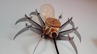 DIY Steampunk Spider Lamp