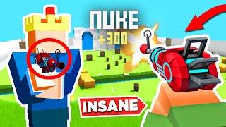 NUKE with *ONLY* Alien Blaster in Krunker.io (challenge)
