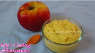 Homemade Baby Food Apple Sauce Puree | Mon An Dam Cho Be