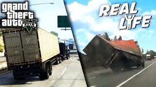 GTA 5 VS REAL LIFE 7 ! (fun, fail, stunt, ...)