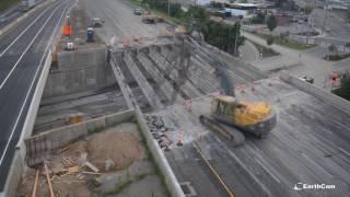 Connecticut Route 8 Bridge Replacement Time-Lapse