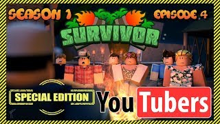 Roblox Survivor: YouTuber Special Edition 😱 | Season 1 - Episode 4 | YouTubers Compete!