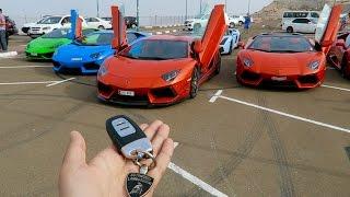 Lamborghini Racing with Friends !! Rich Kids of Dubai !!