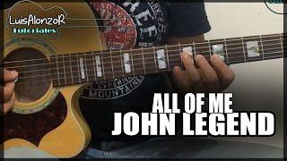 Como tocar - All of me de JOHN LEGEND - Tutorial Guitarra (HD)